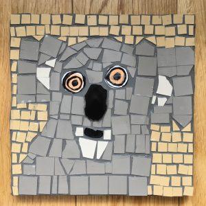 koala mosaic - student work