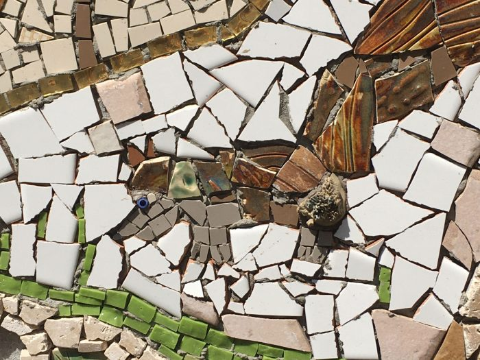 Tree of Squirrels Mosaic detail - ground squirrel