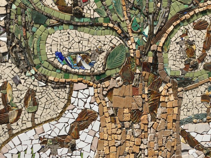 Tree of Squirrels Mosaic - central area