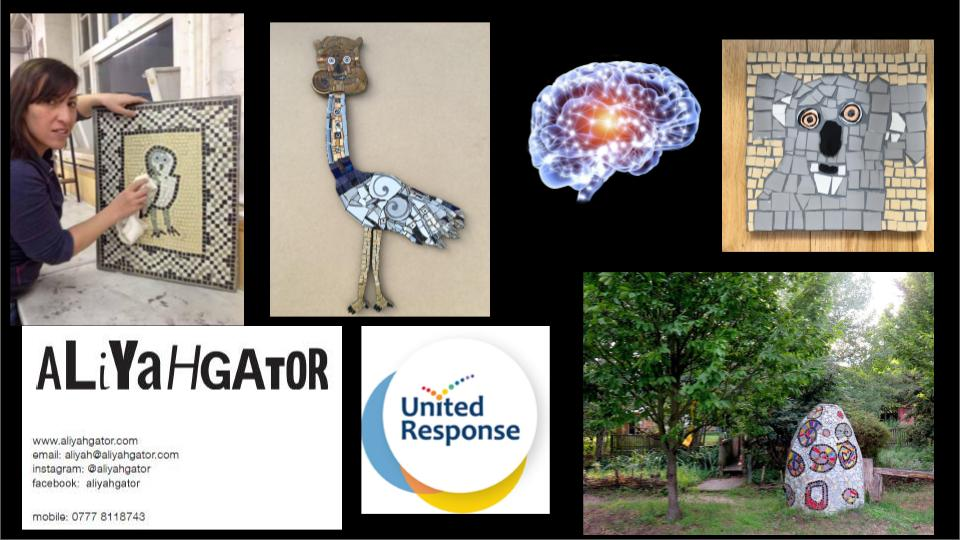 presentation of work by Aliyahgator in the inclusive arts